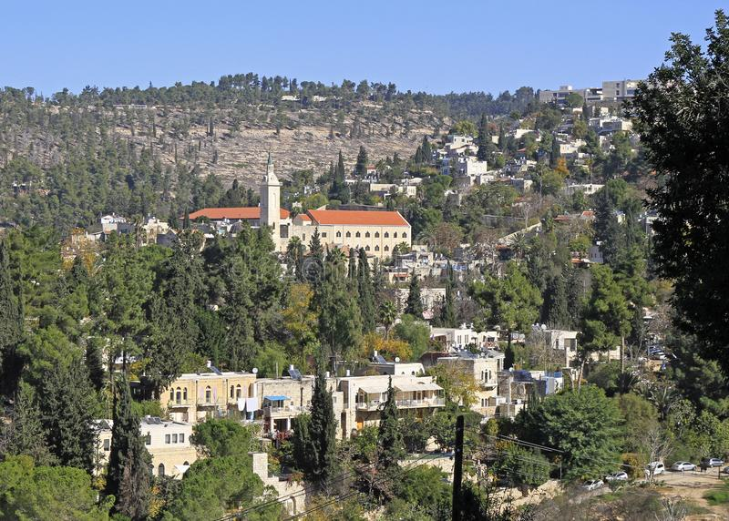 Saint John the Baptist Church and other buildings, Ein Kerem royalty free stock images