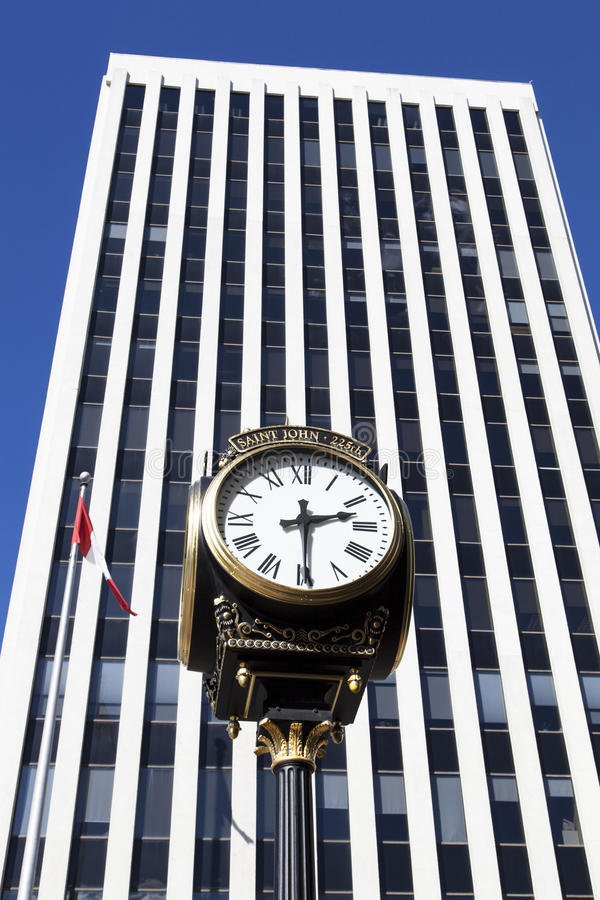 Download Saint John Clock stock photo. Image of skyscrapers, clock - 28091496