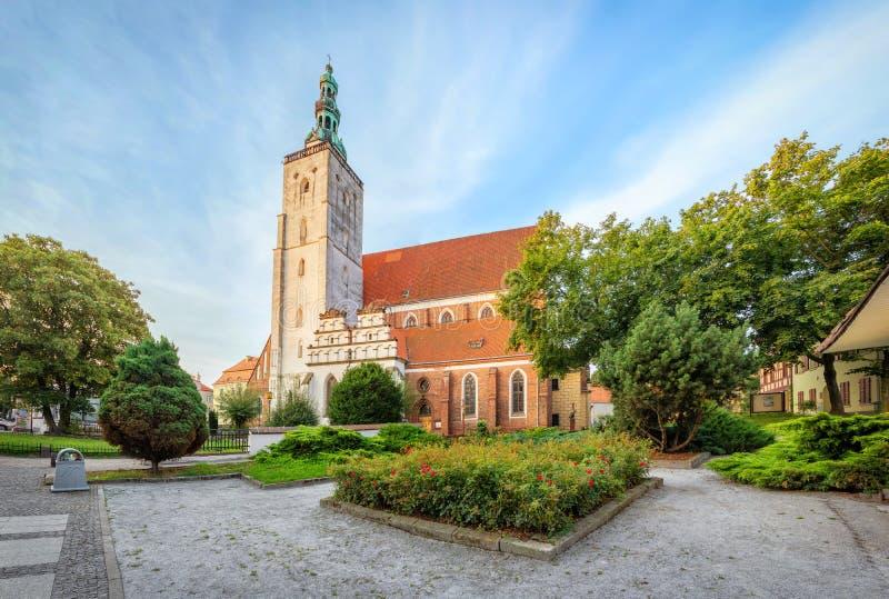Saint John the Evangelist Basilica in Olesnica, Poland. Saint John the Evangelist Basilica in Olesnica,  Lower Silesia, Poland stock photo