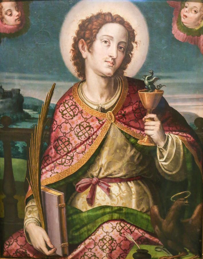 Image result for free pictures of St John the Evangelist and the goblet of wine