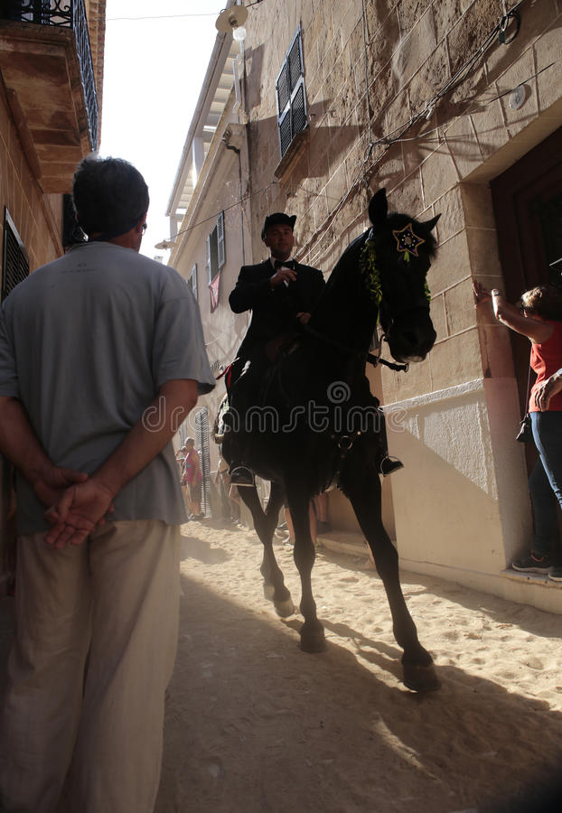 Saint john horse festivity in minorca stock photography