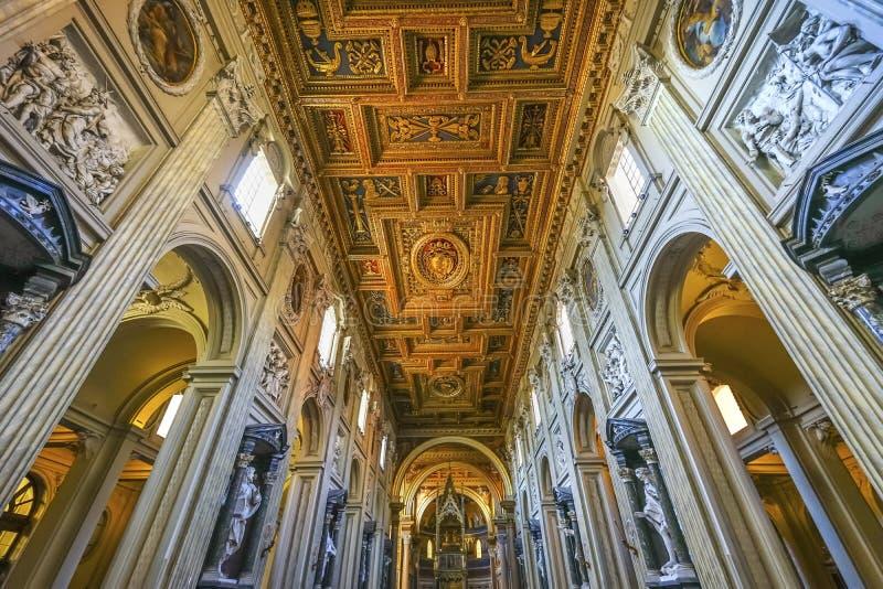 Saint John Lateran Cathedral Rome Italy de basilique de ciboire de haut autel images stock