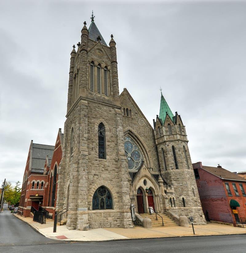 Saint John Lutheran Church - Lancaster, PA fotografia de stock