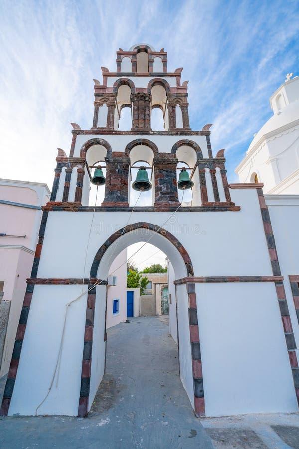 Saint John na ilha de Santorini em Gr?cia, um dos destinos os mais bonitos do curso do mundo Lugar Karterados imagem de stock royalty free