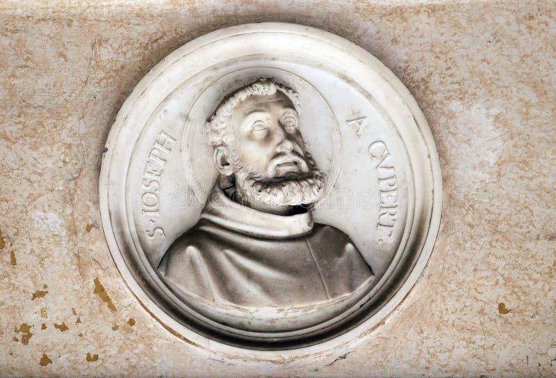 Saint Joseph av Cupertino fotografering för bildbyråer
