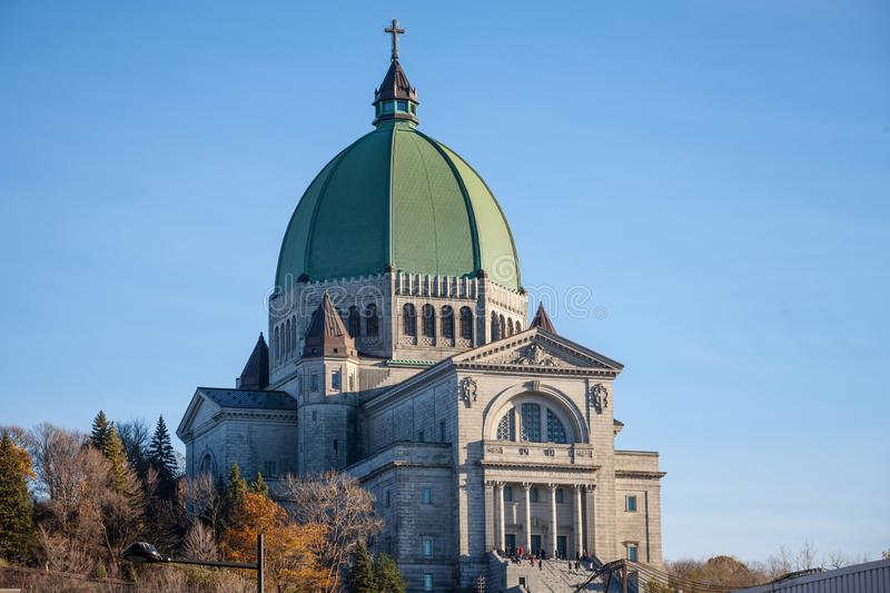 Saint Joseph Cathedral on Mont Royal, in Cote des Neiges district, Montreal, Quebec. royalty free stock photos