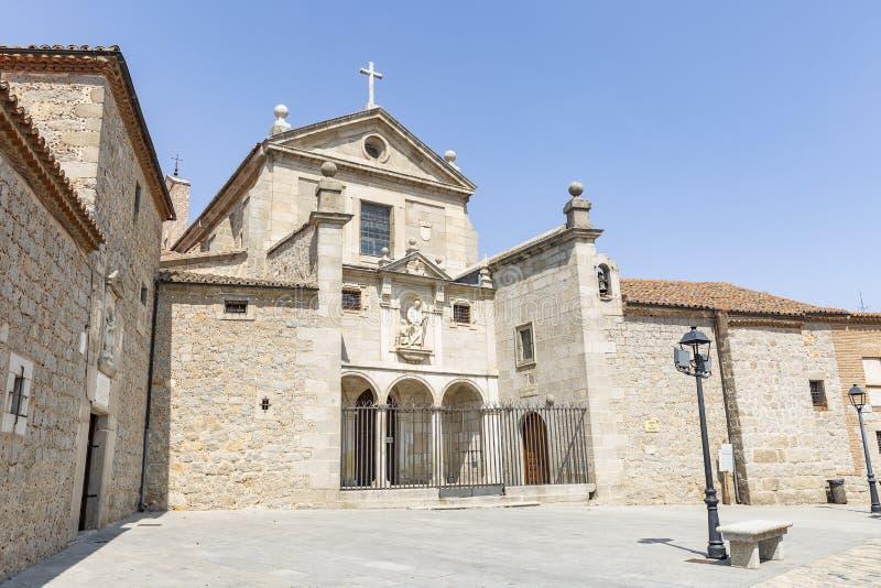 Saint Joseph Convent - monastério de freiras carmelitas Discalced - em Avila imagem de stock