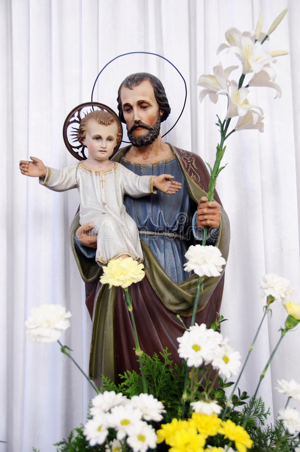 Saint Joseph with little Jesus royalty free stock photo