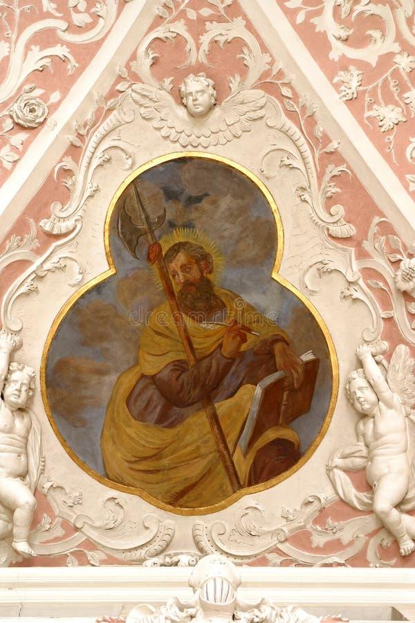 Saint Judas l'apôtre photographie stock libre de droits
