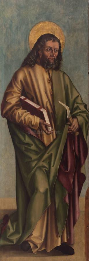 Saint Judas la peinture d'apôtre images stock
