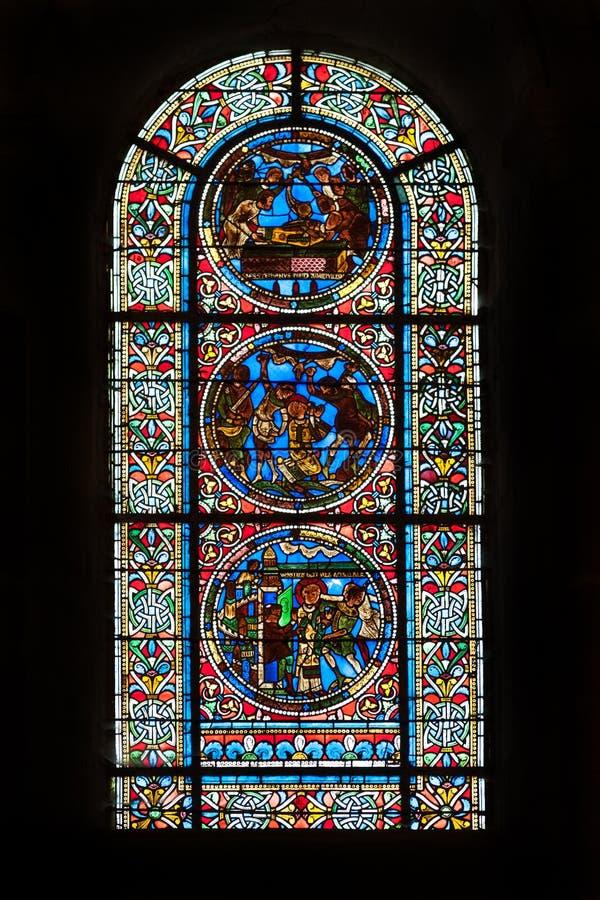 Saint Julian de cathédrale de Le Mans photographie stock libre de droits