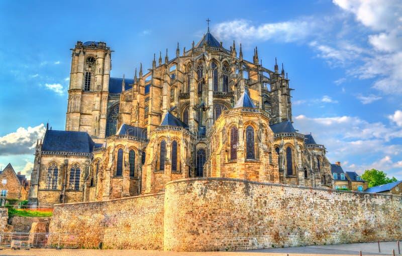 Saint Julien Cathedral de Le Mans dans les Frances image stock