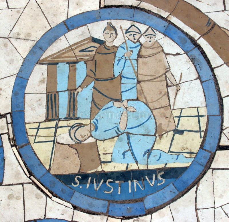 Saint Justin Martyr photos libres de droits
