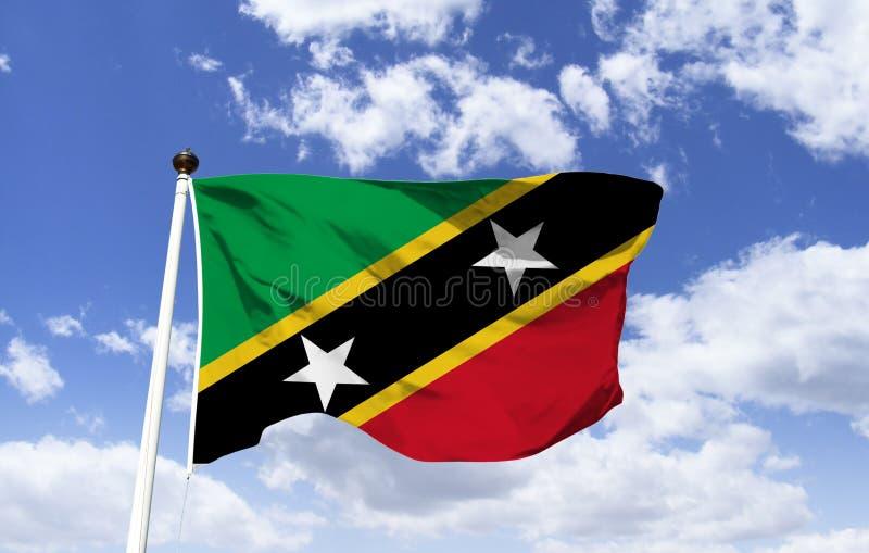 Saint Kitts et Ni?v?s de drapeau photographie stock