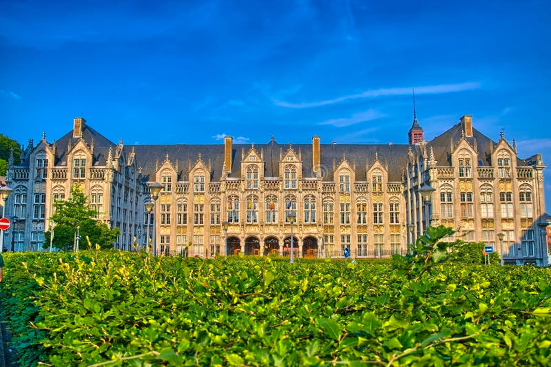 Saint lamberts in front of former palace of the prince bishops i. N Liege, Belgium, Benelux, HDR stock image