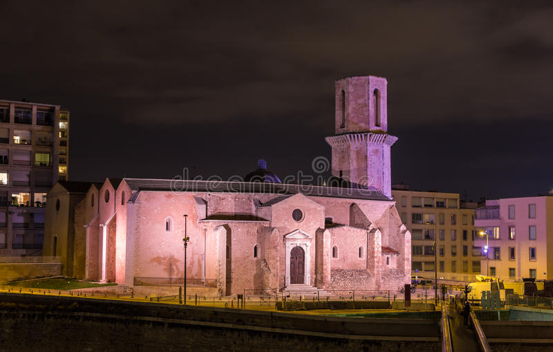Saint Laurent church in Marseille - Provence, France stock photography
