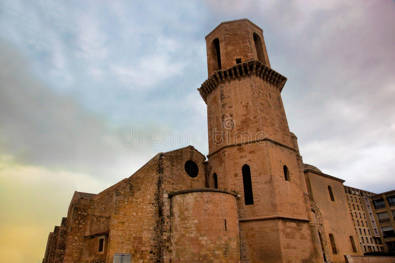 Saint Laurent-Kirche, Marseille, Frankreich. lizenzfreie stockfotografie