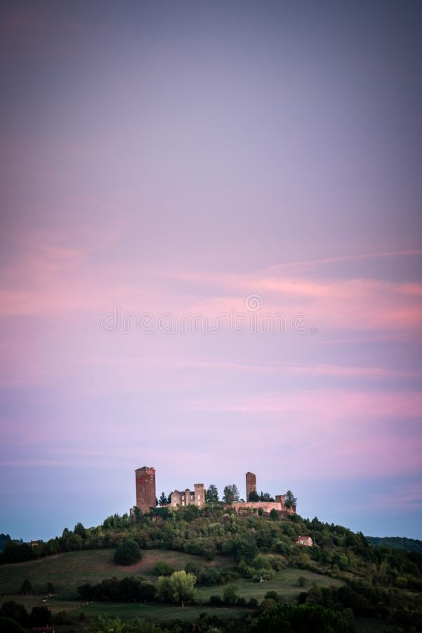Saint Laurent les tours castle in Dordogne valley royalty free stock photos
