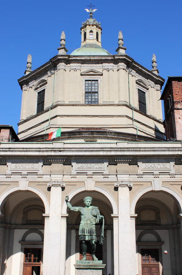 Saint Lawrence cathedral, Milan stock photography