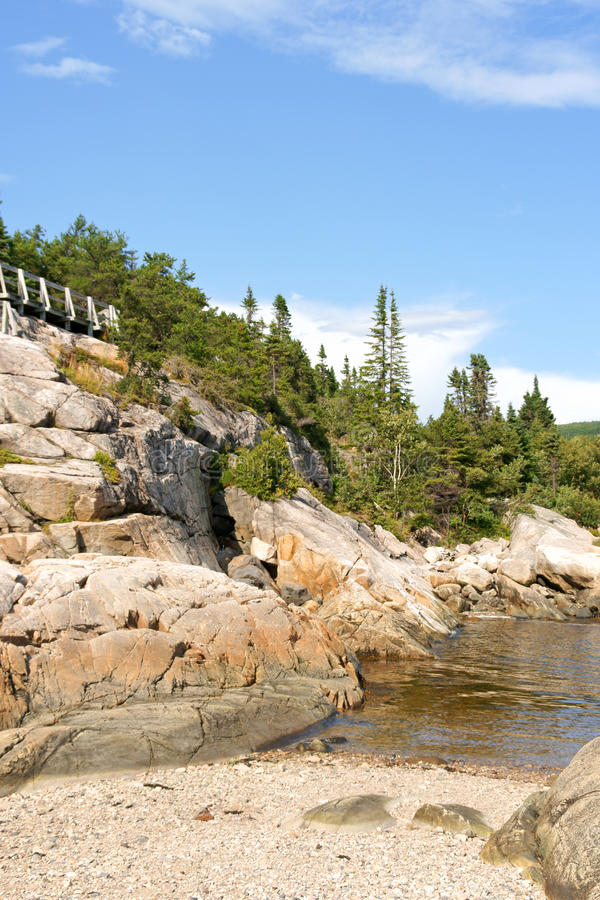 Saint Lawrence River near Tadoussac in Canada. Saint Lawrence River near Tadoussac on a summer day in Quebec, Canada royalty free stock photography