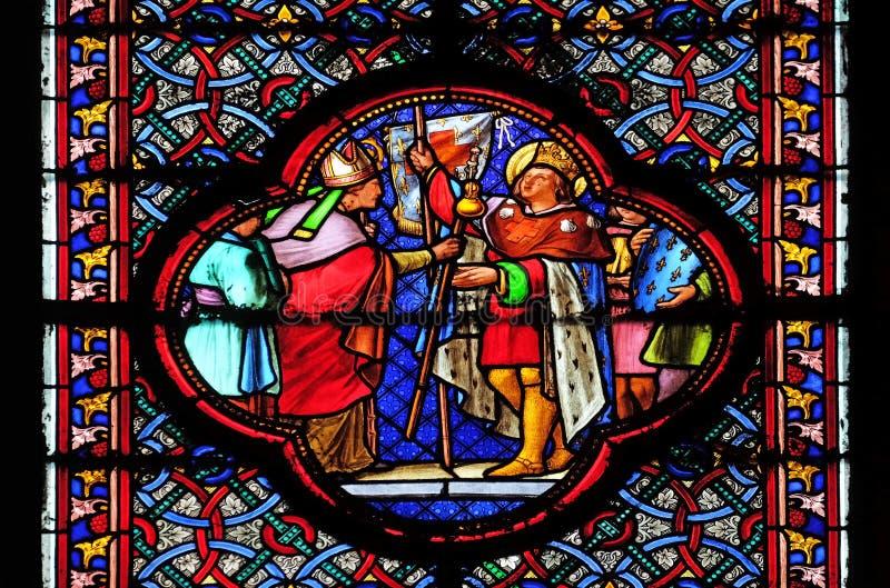 Saint-Louis που καθορίζει για τη σταυροφορία στοκ φωτογραφία