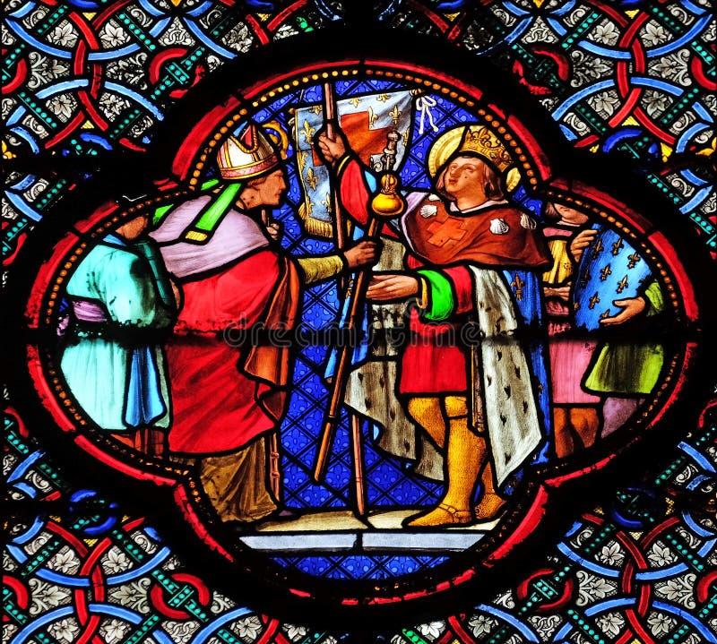 Saint-Louis που καθορίζει για τη σταυροφορία στοκ εικόνες