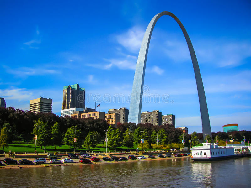 Saint Louis Arch. Arch of the Mississippi - Gateway To the West - Saint Louis, MO royalty free stock photography