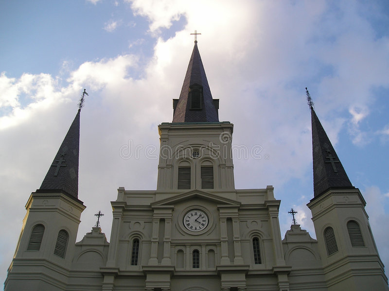 Saint Louis Cathedral stock photography