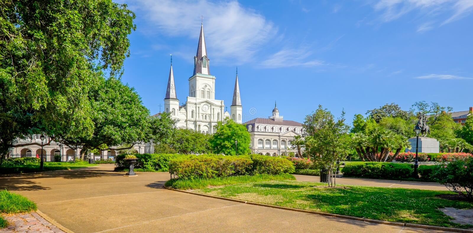 Saint Louis Cathedral. Beautiful Saint Louis Cathedral in the French Quarter in New Orleans, Louisiana stock photos