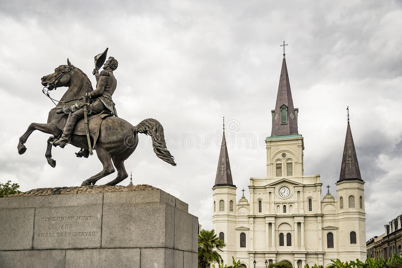 Saint Louis Cathedral. In the French Quarter in New Orleans, Louisiana stock image