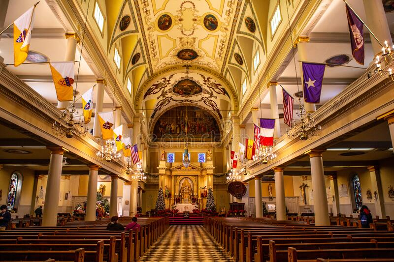 Saint Louis Cathedral in New Orleans,. Inside shot of Saint Louis Cathedral in New Orleans, United States royalty free stock photography