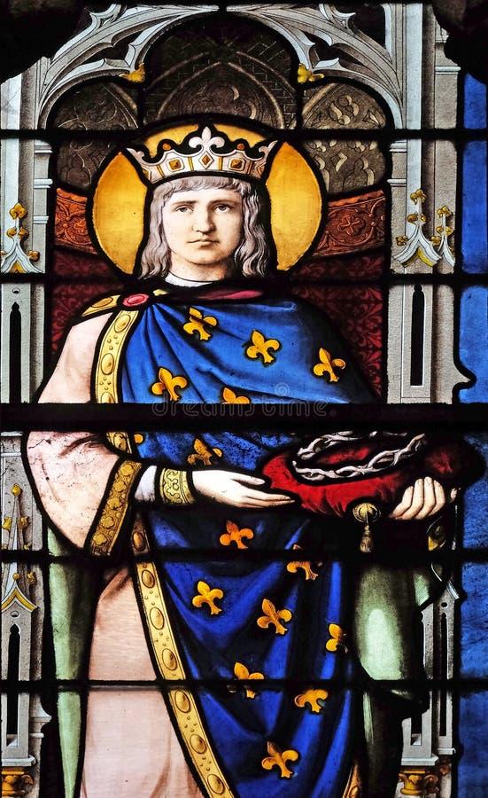 Saint Louis con la corona de espinas fotografía de archivo libre de regalías