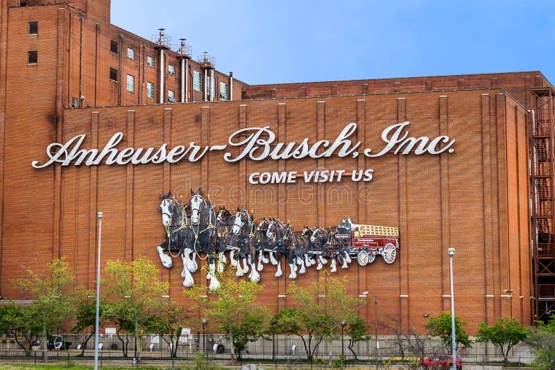 Saint Louis da cervejaria de Anheuser-Busch Inc fotografia de stock