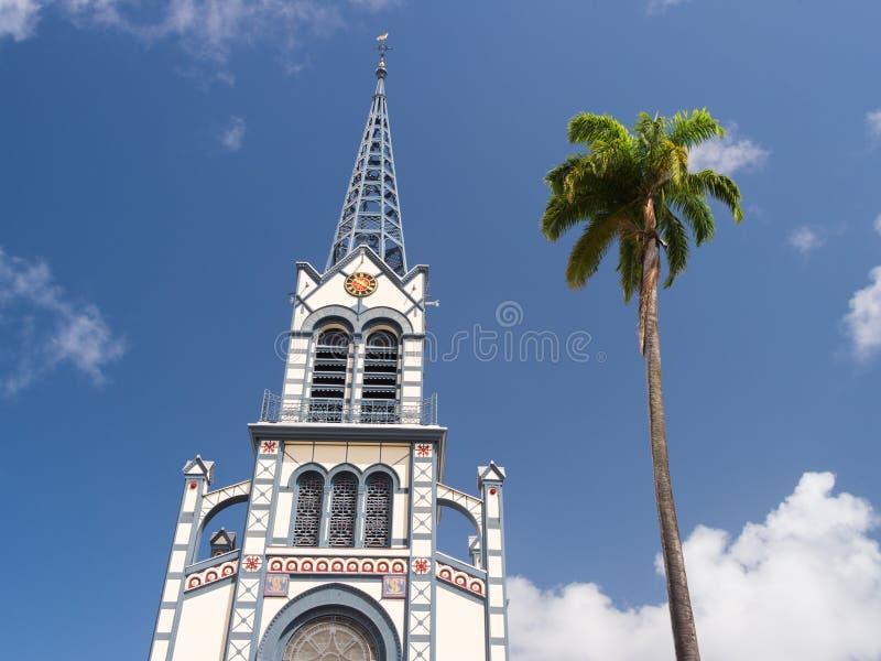 Saint Louis de Cathedrale en Martinica, las Antillas fotografía de archivo