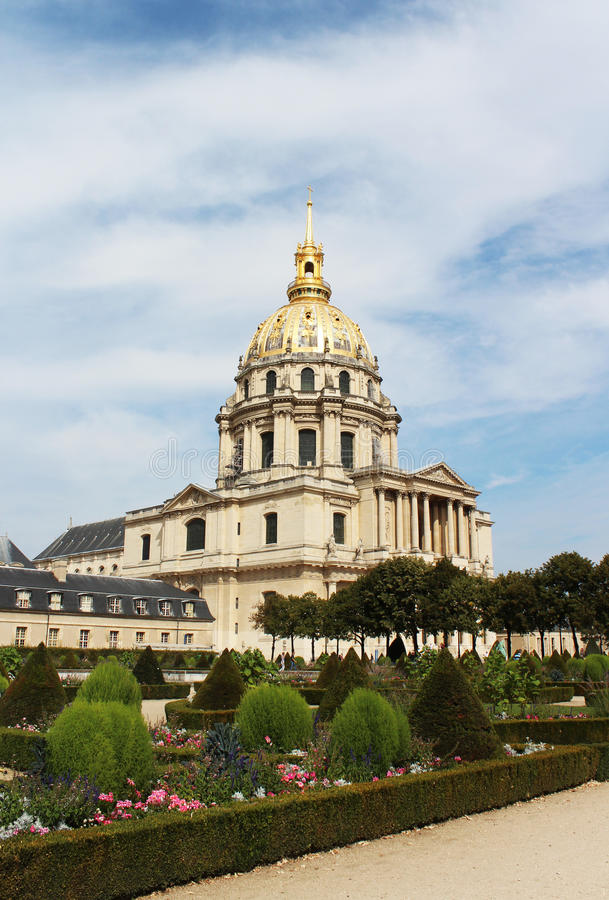 Saint-Louis-des-Invalides Cathedral. September 24, 2012 stock image