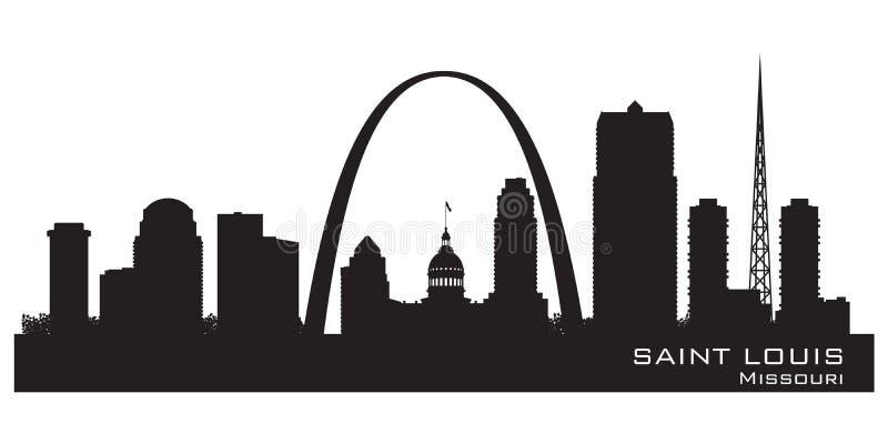 Saint Louis Missouri city skyline vector silhouette stock illustration