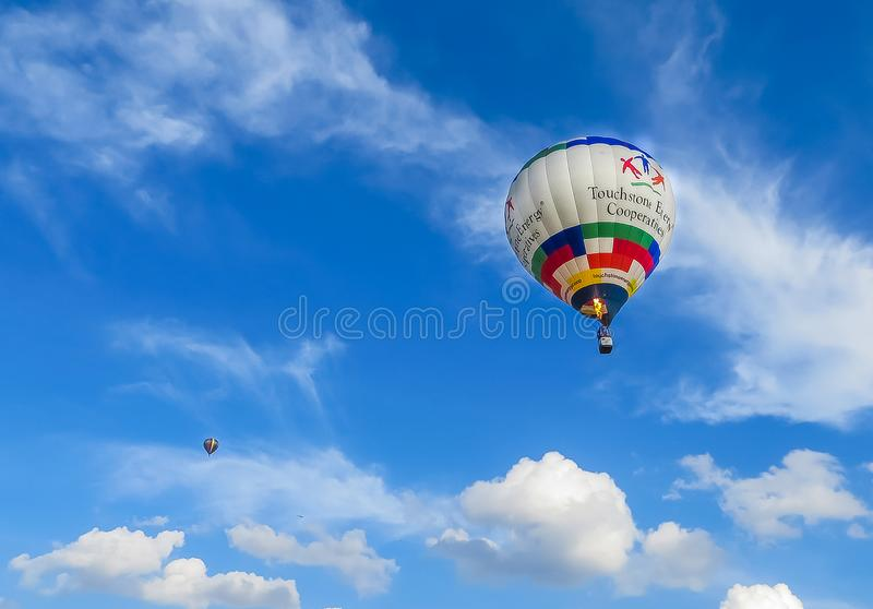 Saint Louis, MO USA - Hot Air Balloon Race stock image