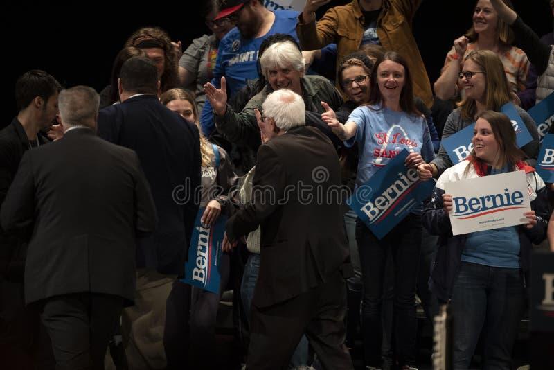 Bernie Sanders Rally in Saint Louis, MO stock image