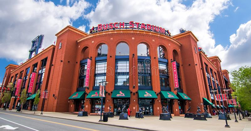 Saint Louis Cardinals Busch Stadium Wide Angle stock image