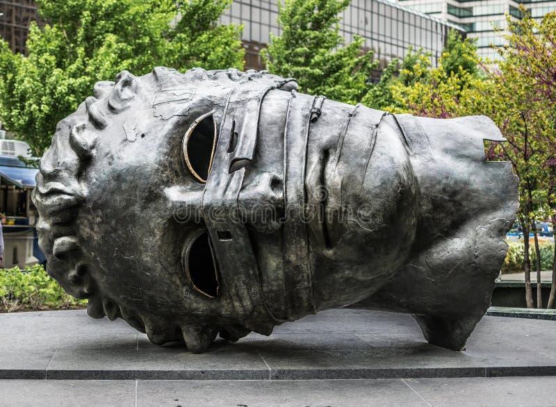 Saint Louis City Garden Giant Greco Head Sculpture royalty free stock photos