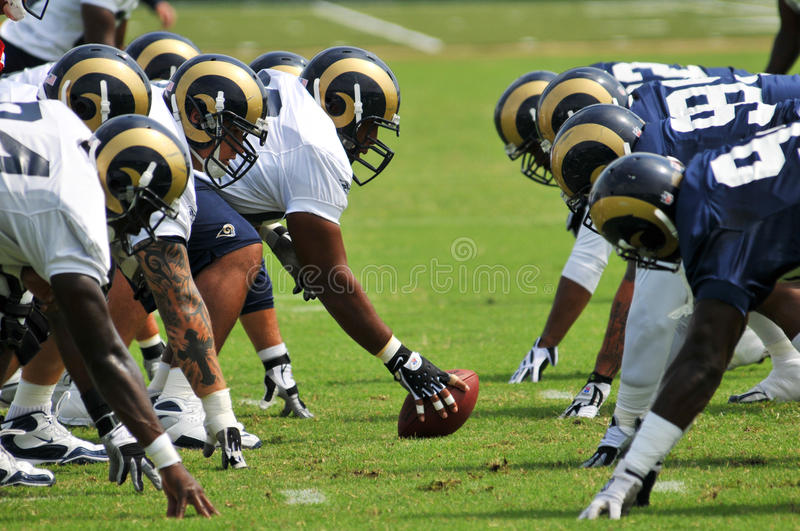 Saint Louis Rams Football team during practice royalty free stock photography