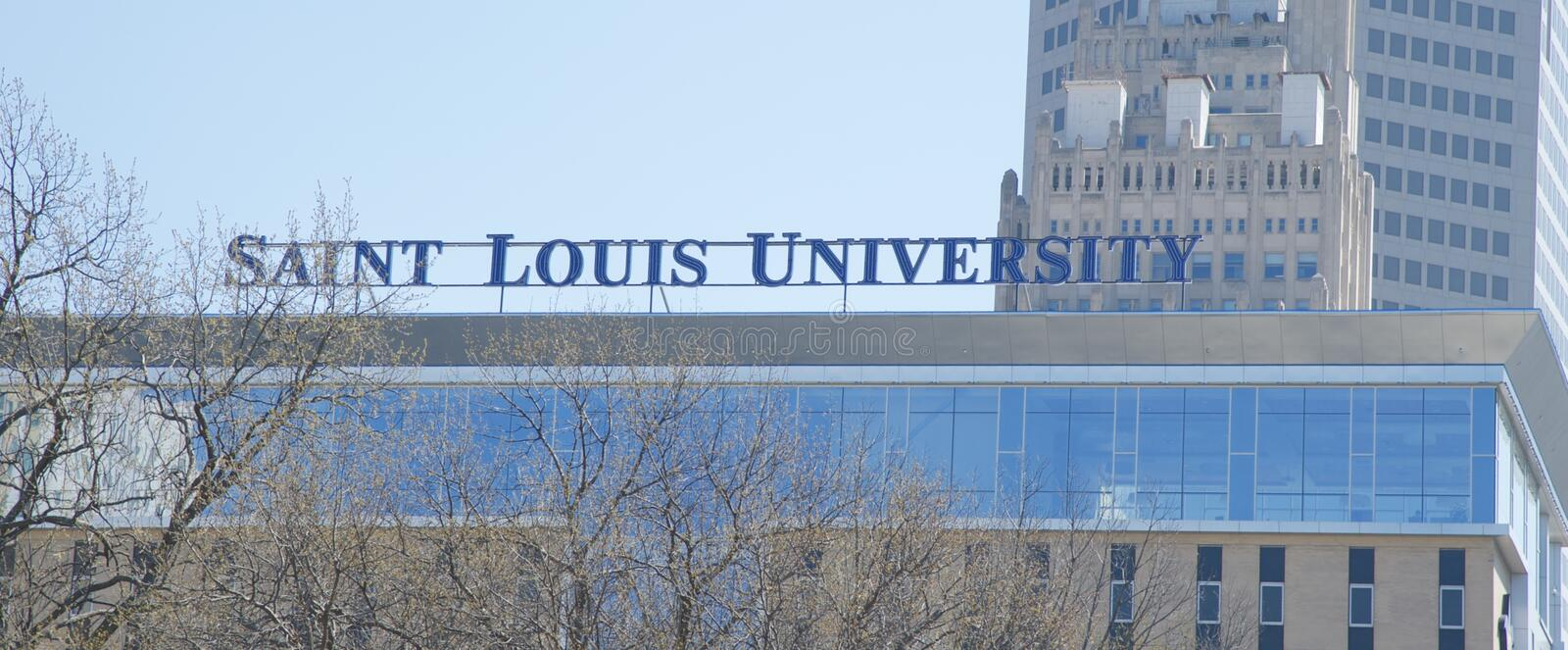 Saint Louis University, St Louis Missouri photos libres de droits