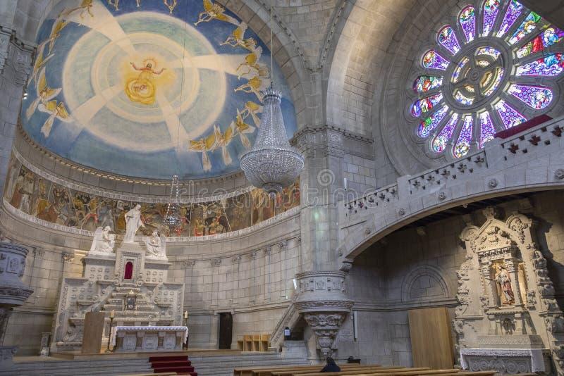 Saint Lucia Basilica - Viana do Castelo - Portugal stock photos