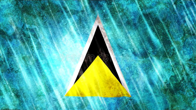 Saint Lucia Flag stock illustration