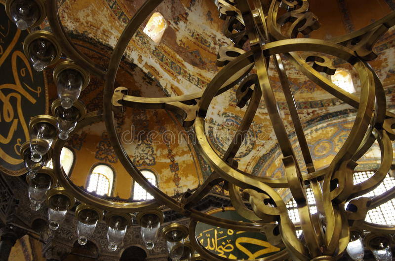 Saint Lucy in Istanbul. Visiting Saint Lucy Mosque and adumbrating its architecture in Istanbul stock images