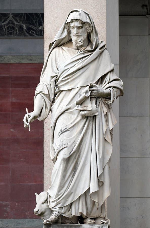 Saint Luke the Evangelist. Basilica of Saint Paul Outside the Walls, Rome, Italy stock photos
