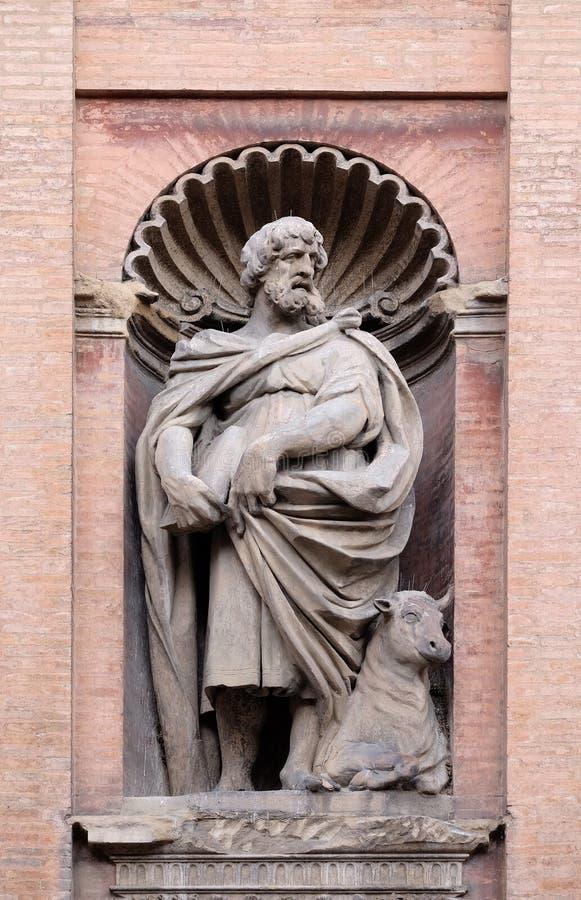 Saint Luke the Evangelist. Church of SS. Salvatore. Bologna. Emilia-Romagna. Italy royalty free stock photo