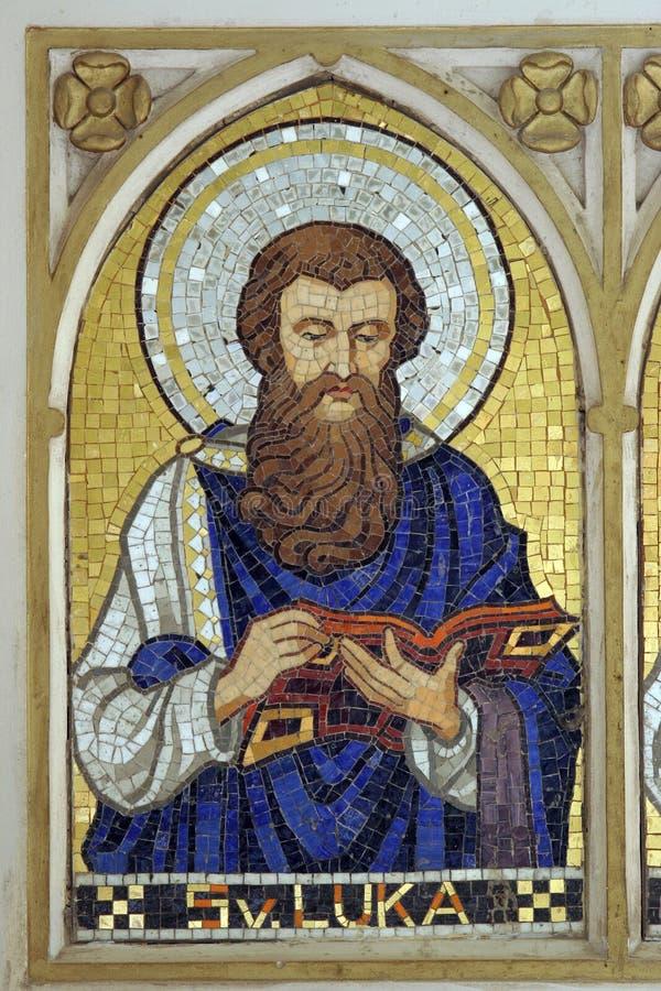 Saint Luke the Evangelist. Mosaic stock images