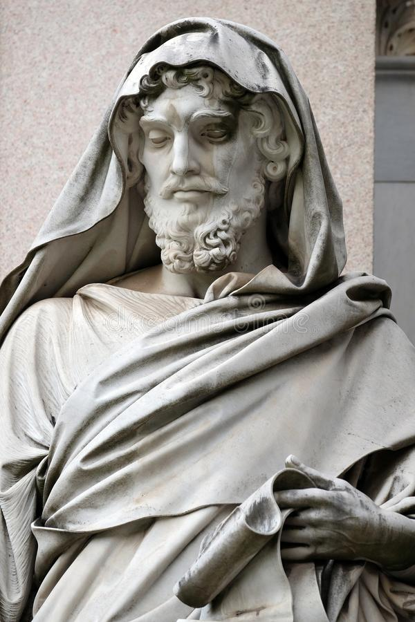 Saint Luke the Evangelist. Basilica of Saint Paul Outside the Walls, Rome, Italy stock photography