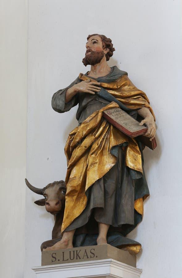 Saint Luke the Evangelist. Basilica of St. Vitus in Ellwangen, Germany stock photos